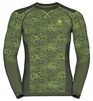 Odlo Blackcomb Evolution Warm crew neck - Funktionsshirt Langarm - Herren, Graphite/Green