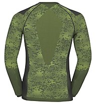 Odlo Blackcomb Evolution Warm - maglia tecnica - uomo, Graphite/Green