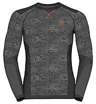 Odlo Blackcomb Evolution Warm crew neck - Funktionsshirt Langarm - Herren, Black/Concrete