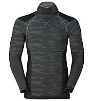Odlo Blackcomb Evolution Warm with facemask - Funktionsshirt Langarm - Herren, Concrete Grey/Black/Blue