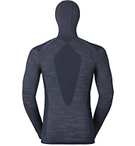Odlo Blackcomb Evolution warm LS with facemask, Navy New/Black/Odlo Concrete/Grey Melange
