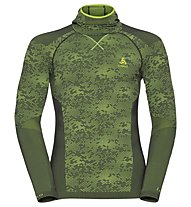 Odlo Blackcomb Evolution Warm with facemask - Funktionsshirt Langarm - Herren, Graphite Grey/Green