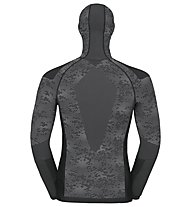 Odlo Blackcomb Evolution Warm with facemask - Funktionsshirt Langarm - Herren, Black/Concrete