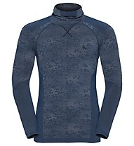 Odlo Blackcomb Evolution Warm with facemask - Funktionsshirt Langarm - Herren, Blue Opal