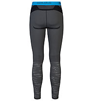 Odlo Blackcomb Evolution Warm Pants lange Unterhose, Concrete Grey/Black/Blue