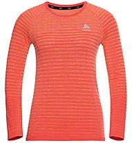 Odlo Blackcomb Pro L/S Crew Neck - Technisches Langarm-Damen-Shirt, Red