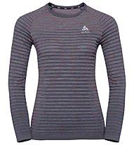 Odlo Blackcomb Pro L/S Crew Neck - Technisches Langarm-Damen-Shirt, Dark Grey