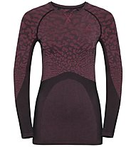Odlo Blackcomb Suw Top Crew Neck - Funktionsshirt Langarm - Damen, Dark Red