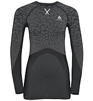 Odlo Blackcomb Suw Top Crew Neck - Funktionsshirt Langarm - Damen, Grey/Dark Grey