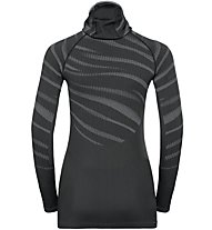 Odlo Blackcomb Top with Facemask - Funktionsshirt Langarm mit Gesichtsmaske - Damen, Grey