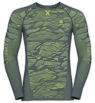 Odlo Blackcomb Top Cn Ls - maglietta tecnica - uomo, Green