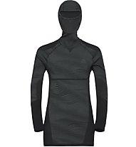 Odlo Blackcomb Top with Facemask - maglia a maniche lunghe con cappuccio - uomo, Grey