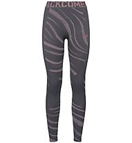Odlo Blackcomb Suw Bottom Pants - Funktionsunterhose Lang - Damen, Grey/Rose