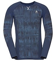 Odlo Blackcomp Baselayer - Langarmshirt - Herren, Blue