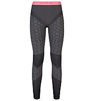 Odlo Pantaloni intimi donna Blackcomb Evolution Warm, Odlo concrete grey/Black