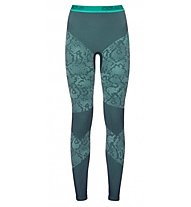 Odlo Blackcomb Evolution Warm - Unterhose Lang - Damen, Peacoat/Mint