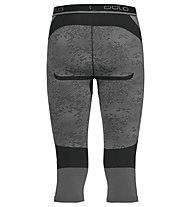 Odlo Blackcomb Evolution Warm Pants 3/4 - pantaloni intimi 3/4 - uomo, Black/Concrete