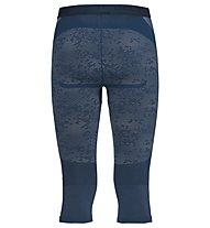 Odlo Blackcomb Evolution Warm Pants 3/4 - pantaloni intimi 3/4 - uomo, Blue Opal
