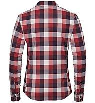 Odlo Kumano Check - camicia a maniche lunghe - donna, Red/Dark Red