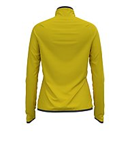 Odlo Carve Ceramiwarm Midlayer 1/2 Zip - Fleecepullover - Damen, Yellow