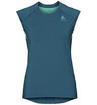 Odlo Ceramicool - T-shirt fitness - donna, Blue/Green