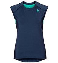 Odlo Ceramicool - T-shirt fitness - donna, Dark Blue/Green