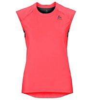 Odlo Ceramicool - T-shirt fitness - donna, Red/Black