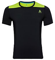 Odlo Ceramicool - T-shirt fitness - uomo, Black/Green
