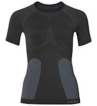 Odlo Evolution Warm Crew - maglietta tecnica sci - donna, Black