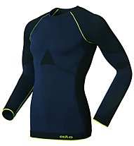 Odlo Evolution Warm Greentec Shirt, Navy/Black