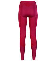 Odlo Evolution warm Pants lange Damen-Unterhose, Sangria/Zinfandel