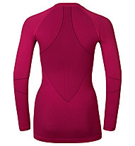 Odlo Evolution warm Shirt l/s crew neck langärmliges Damen-Funktionsshirt, Sangria/Zinfandel