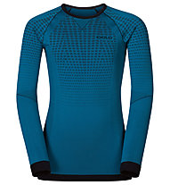 Odlo Evolution Warm crew neck - Funktionsshirt Langarm - Kinder, Seaport/Black