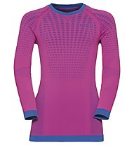 Odlo Evolution Warm crew neck - Funktionsshirt Langarm - Kinder, Pink/Blue