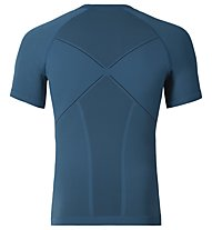 Odlo Evolution warm Shirt s/s crew neck maglia manica corta funzionale, Seaport/Black