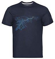 Odlo F-Dry Print Bl Crew New - T-shirt - uomo, Navy
