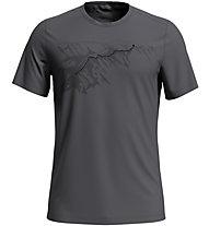 Odlo F-Dry Print Bl Crew New - T-shirt - uomo, Grey