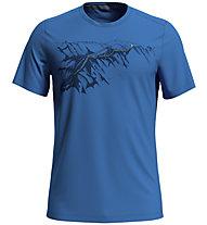 Odlo F-Dry Print Bl Crew New - T-shirt - uomo, Light Blue