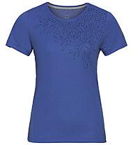 Odlo F-Dry Print S/S Crew Neck - T-Shirt - Damen, Blue
