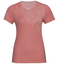 Odlo F-Dry Print S/S Crew Neck - T-Shirt - Damen, Rose