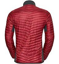Odlo Helium Cocoon Midlayer - giacca in piuma - uomo, Dark Red
