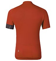 Odlo ISOLA Stand-up collar s/s 1/2 zip Radtrikot, Cherry Tomato