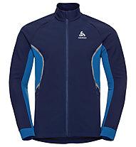 Odlo Aeolus - giacca in pile - uomo, Blue/Dark Blue
