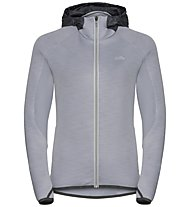 Odlo Katja - giacca con cappuccio - donna, Grey/Black