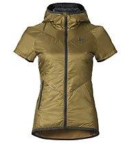 Odlo Loftone s/s hoody Primaloft Vest W's, Dull Gold/Odlo Graphite Grey