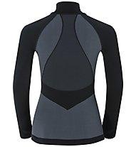 Odlo LS Zip Evolution Warm Funktionsshirt Damen, Black