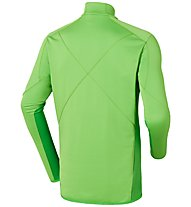 Odlo Midlayer 1/2 zip Sunday River, Green Flash/Classic Green
