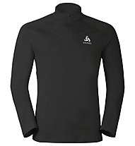 Odlo Midlayer 1/2 Zip Virgo maglia running, Black