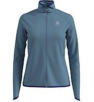 Odlo Carve Ceramiwarm Midlayer - giacca in pile - donna, Blue