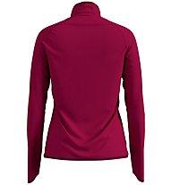 Odlo Carve Ceramiwarm Midlayer - giacca in pile - donna, Red